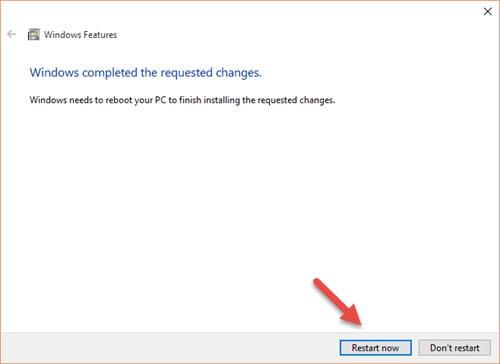 Kích hoạt Net Framework trên Win 10 trên máy tính 5
