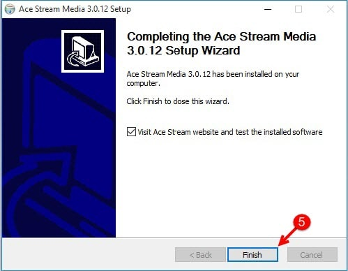 Set Stream Media on Windows 10 Ace, Ace Stream Media Setup
