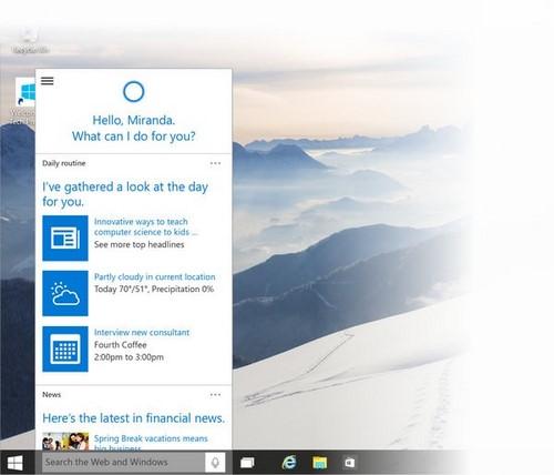 Cách sử dụng Cortana, trợ lý ảo trên Windows 10 3