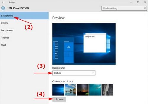 Cách đổi hình nền máy tính, thay ảnh màn hình desktop, laptop Windows 10, 8.1 , 7 2