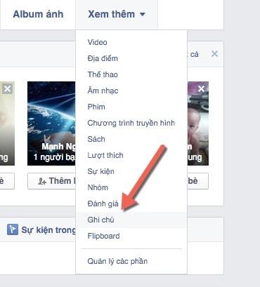 su dung note tren facebook