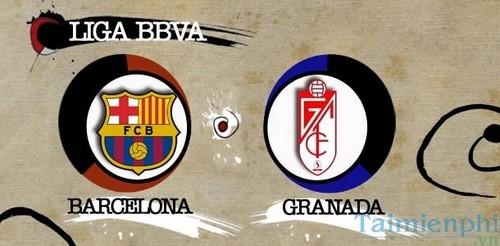 barcelona vs granada la liga vong 19