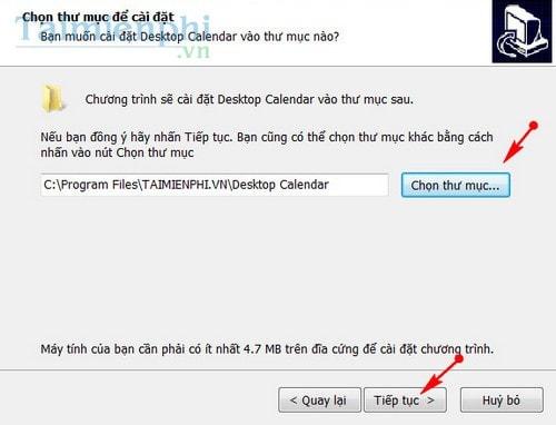 xem lich tren desktop bang desktopcalendar