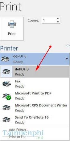Cài doPDF, Setup doPDF phần mềm chuyển đổi word sang PDF