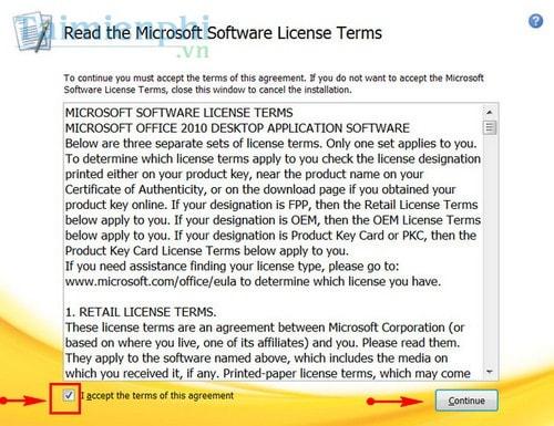 Cài Office 2010, bộ công cụ văn phòng Word, Excel 4