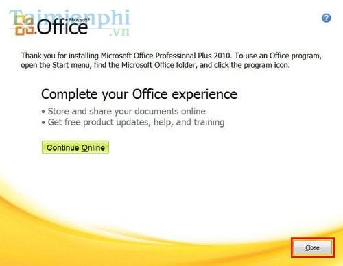 Cài Office 2010, bộ công cụ văn phòng Word, Excel 6