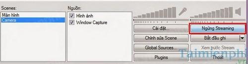 Phát video trực tuyến trên TalkTV bằng Open Broadcaster