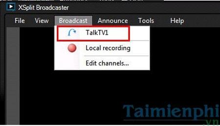 Cách phát video trực tiếp trên TalkTV bằng Xsplit