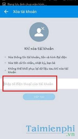 Cách xóa tài khoản Zalo, delete Zalo trên điện thoại vĩnh viễn