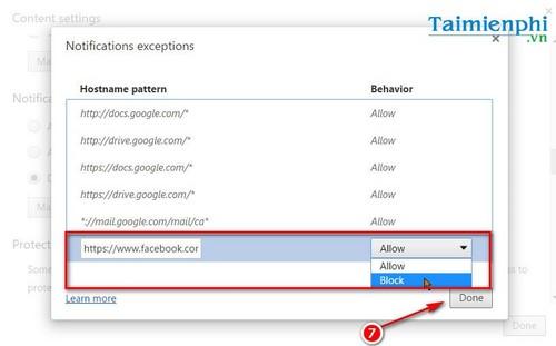 Cách tắt thông báo Facebook trên Google Chrome