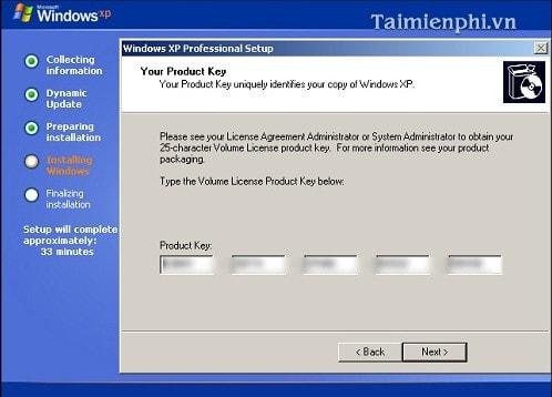 Cài Win XP từ ổ đĩa CD, setup Windows XP qua ổ đĩa CD, DVD 12