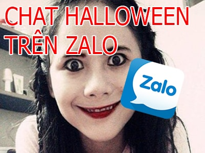 chat halloween trong zalo
