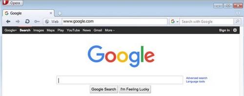 Đặt Google.com làm trang chủ Opera