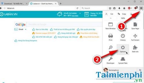 Cách gỡ laban.vn khỏi trình duyệt web Firefox