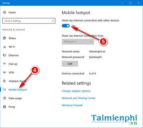 Kích hoạt Wifi Hotspot, bật tính năng Wifi Hotspot phát wifi trên Windows 10