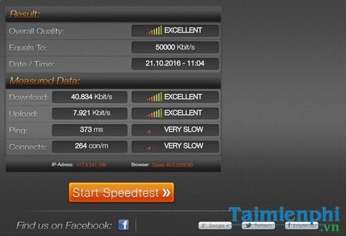 Kiểm tra tốc độ mạng FPT, test đường truyền mạng FPT 5