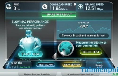 Kiểm tra tốc độ mạng VNPT, test đường truyền mạng VNPT 2