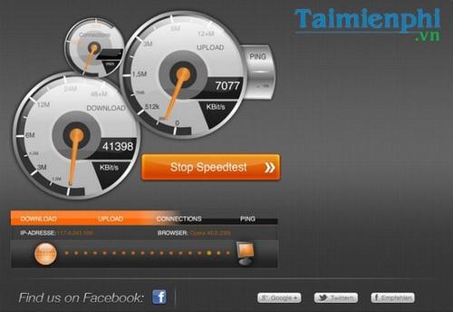 Kiểm tra tốc độ mạng VNPT, test đường truyền mạng VNPT 3