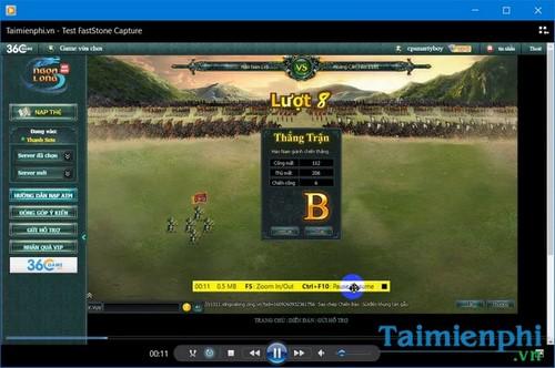 quay web game bang phan mem faststone capture