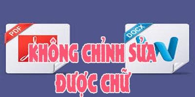 chuyen file pdf sang word khong chinh sua duoc