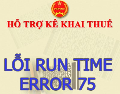 Sửa lỗi Run-time error 75 : Path/file access error trong HTKK