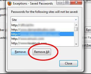 Xóa mật khẩu tài khoản đã lưu trên Firefox