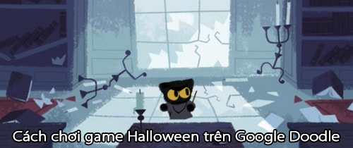 choi game halloween tren google doodle
