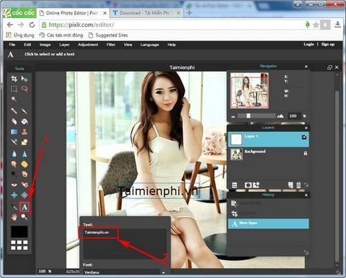 Edit photos online on pixlr