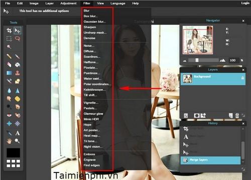 Chỉnh sửa ảnh Online trên Pixlr, phiên bản Photoshop trực tuyến