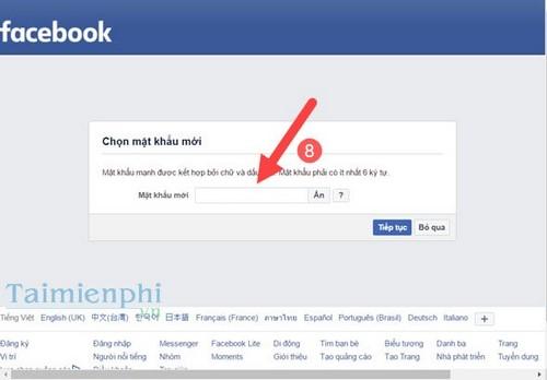 Cách lấy lại mật khẩu Facebook bị mất, quên bằng số điện thoại, gmail 6