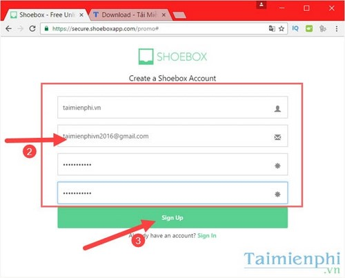 Register shoebox license fee