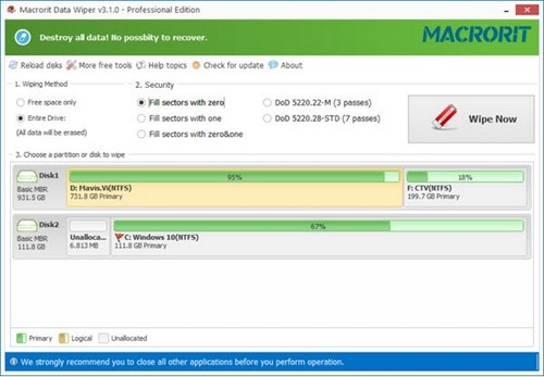 giveaway macrorit disk partition wiper unlimited free