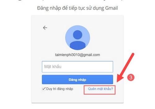 Cách lấy lại mật khẩu gmail, tài khoản google bị mất không nhớ 2
