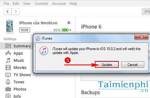 Nâng cấp iOS 10.0.2 qua iTunes, cách cập nhật iOS 10.0.2 bằng iTunes
