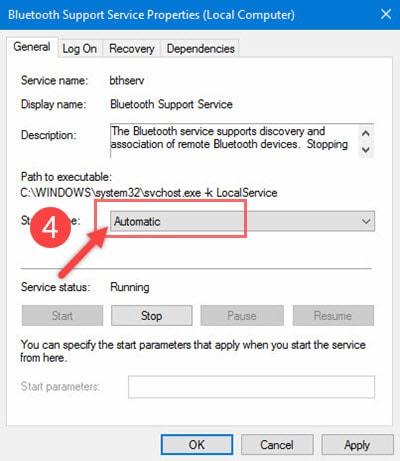 Sửa lỗi Bluetooth not working trên Windows 10 4
