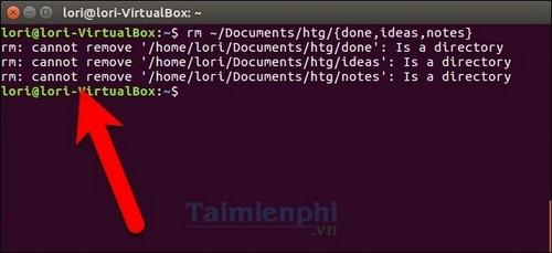 Xóa nhiều thư mục con trên Linux bằng lệnh CMD