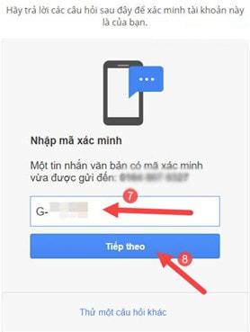 Cách lấy lại mật khẩu gmail, tài khoản google bị mất không nhớ 6