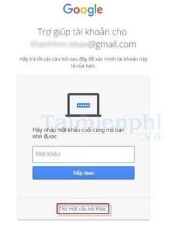 phuc hoi mat khau gmail