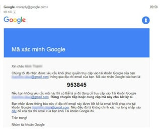 lấy lại mật khẩu gmail bằng mail phụ
