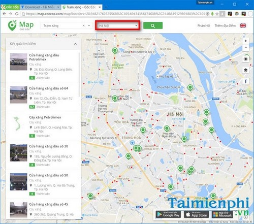 tim tram xang bang coc coc map