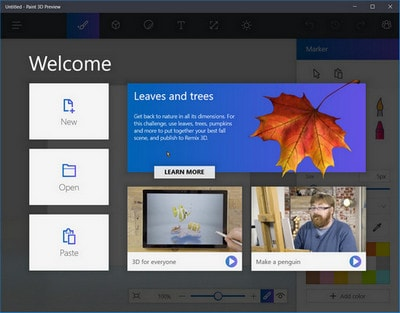 cai paint 3d preview tren windows 10
