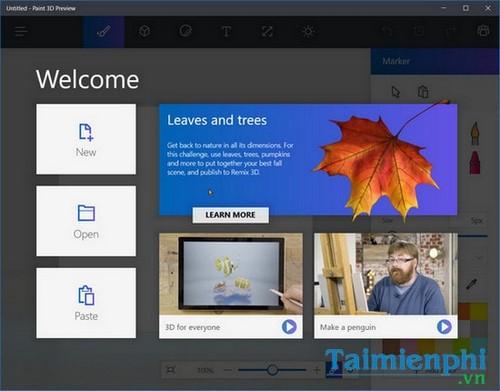 Cài Paint 3D Preview trên Windows 10