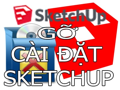 go sketchup tren may tinh