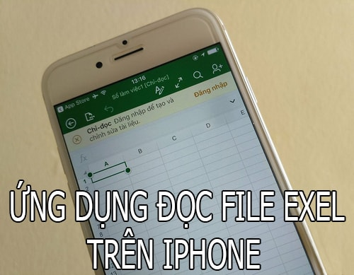 ung dung doc file excel tren iphone