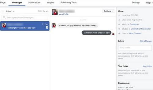 Cài đặt tự động trả lời tin nhắn cho fanpage Facebook