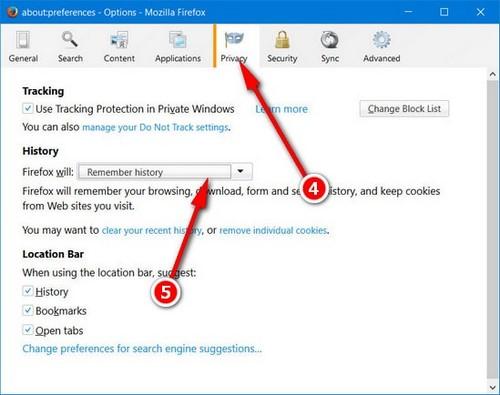 Bật tắt cookies trên Firefox, kích hoạt cookies trên Firefox