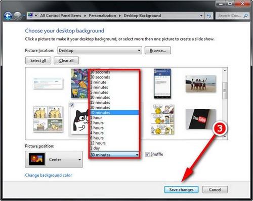 Đổi hình nền máy tính win 7, thay ảnh màn hình destop, laptop Windows 7 4