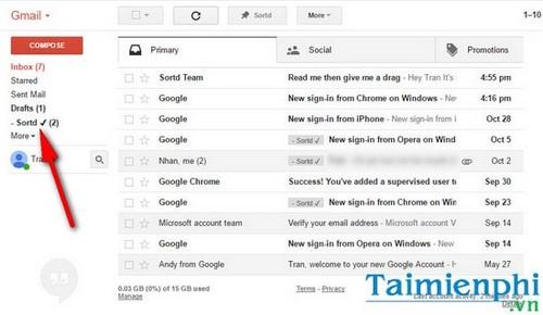 Dùng Gmail làm bảng phân công công việc