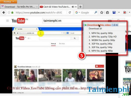 tai video youtube bang cong cu idm