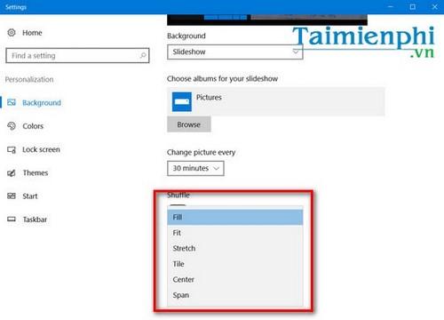 Cách thay đổi hình nền máy tính liên tục, thay đổi hình nền desktop liên tục 7